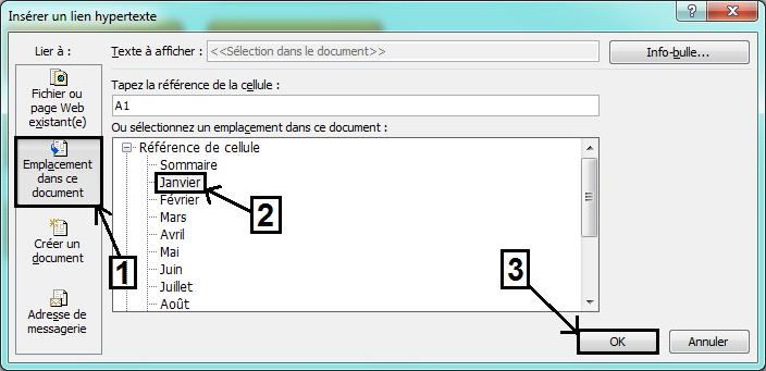 Créer un sommaire dynamique Excel