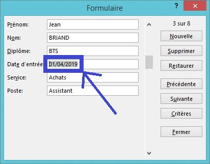 Créer un formulaire de saisie personnalisé sur Excel