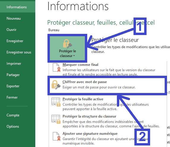Protéger l'ouverture d'un fichier Excel par un mot de passe
