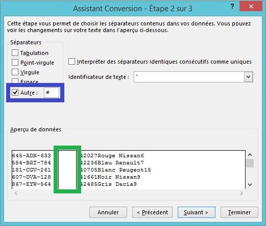 Séparer le contenu d'une cellule sur Excel