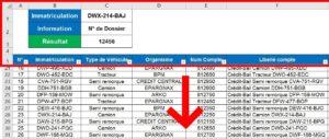 Figer les volets sur Excel