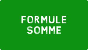 Formule SOMME