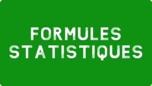 Formules statistiques