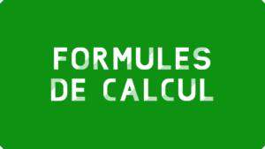 Formules de calcul simples