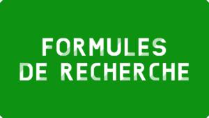 Formules de recherche Excel