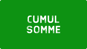 Cumul avec la formule SOMME