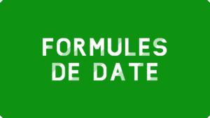 Formules de date Excel