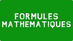 Formules mathématiques Excel