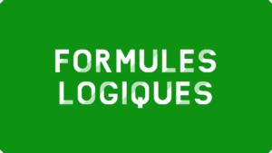 Formules logiques Excel