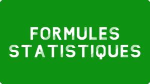 Formules statistiques Excel