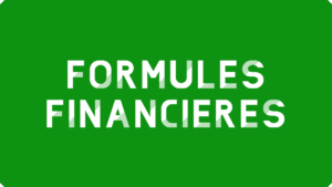 Formules financières Excel
