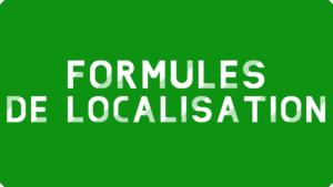 Formules de localisation Excel