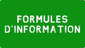 Formules d'information Excel